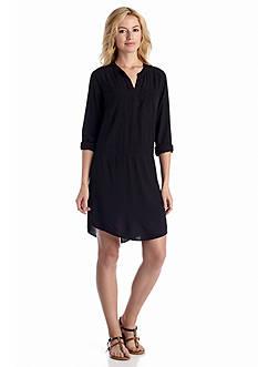 Splendid Long Sleeve Voile Shirt Dress