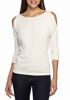 Splendid Sylvie Cold Shoulder Sweater