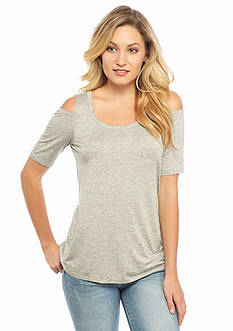 Splendid Cold Shoulder Knit Tee