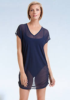 Anne Cole Signature® Mesh Side Shirred Tunic