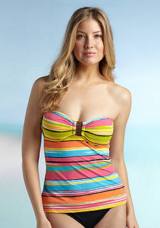 Anne Cole Signature® Painterly Stripe Bandokini