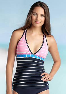 Anne Cole Signature® Sunbeam Striped Racerback Tankini