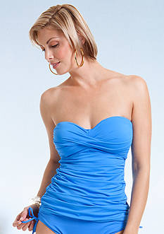 Anne Cole Signature® Shirred Twist Front Bandokini