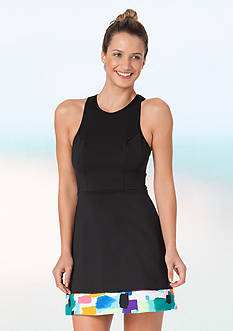 ANNE COLE LOCKER Neoprene Cover Up Dress
