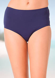 Anne Cole Signature Solid High-Waist Swim Bottom