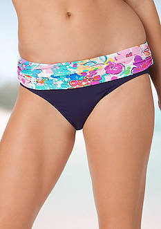Anne Cole Signature Buds Foldover Mid-Rise Swim Bottom