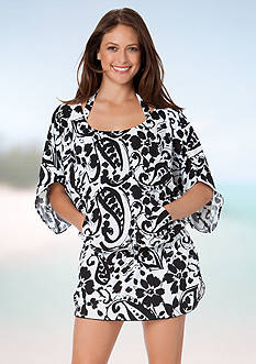 Anne Cole Signature Antigua Paisley Caftan Cover Up