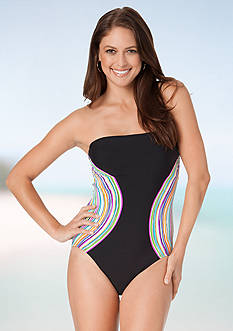 Anne Cole Signature Rainbow Arches One Piece