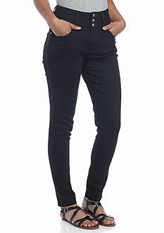 Red Camel 3 Button High Waist Skinny Leggings