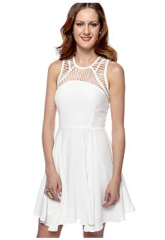 Pure Sugar Lattice Fit And Flare Dress
