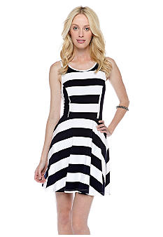 Pure Sugar Stripe Fit N Flare Dress