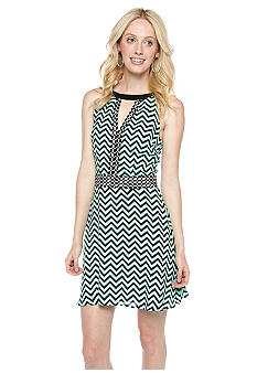 Pure Sugar Zig Zag Open Front Dress