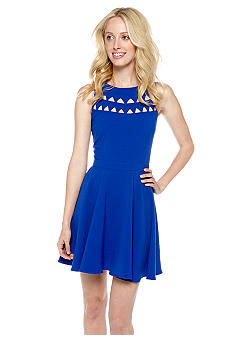 Pure Sugar Cutout Neck Dress