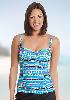 New Directions Paradise Stripe Molded Tankini