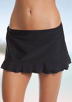 New Directions Beach Club Solids Ruffled Skirt