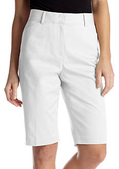 Kim Rogers® Cats Eye Solid Bermuda Short