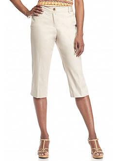 Kim Rogers Twill Capri Pants