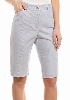Kim Rogers Striped Cats Eye Bermuda Shorts