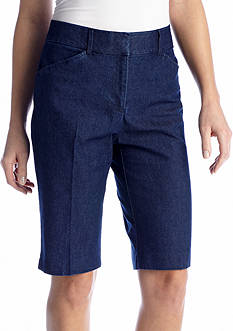 Kim Rogers® Cats Eye Jean Bermuda Short