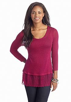 Heart & Crush Lace Bottom Sweater