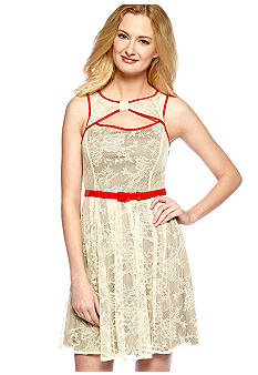 RYU Lace Twist Front Dress