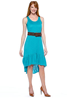 Madison Hi-Lo Belted Dress
