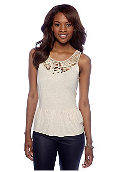Threads 4 Thought Priscilla Lace Peplum Tank