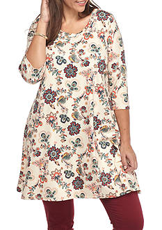 Living Doll Plus Size Swing Tunic Top