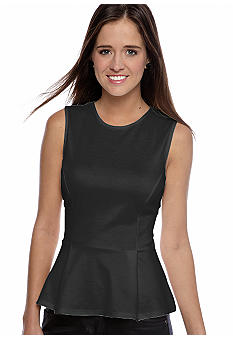 Living Doll Sleeveless Ponte Peplum