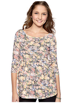 Living Doll Three-Quarter Sleeve Floral Baby Doll