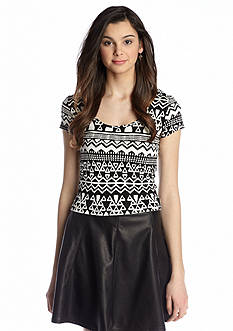 Living Doll Tribal Printed Crop Tee