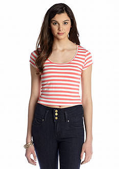 Living Doll Stripe Crop Tee