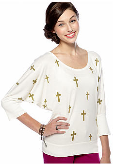 Living Doll Dolman Cross Top