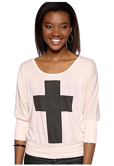 Living Doll Dolman Cross Sweatshirt