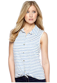 Living Doll Stripe Knit Sleeveless Top