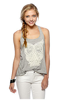 Living Doll Crochet Owl Applique Tank