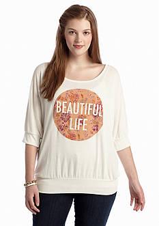 Living Doll Plus Size Beautiful Sweatshirt