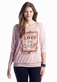 Living Doll Love Is a Verb Sweatshirt