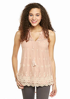 Living Doll Embroidered Lace Front Top