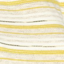 Juniors: Knit Sale: Mustard Multi Living Doll Striped Knit to Woven Top