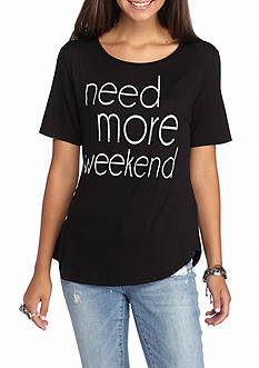 Living Doll 'Need More Weekend' Graphic Tee