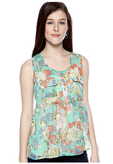 Living Doll Floral Printed Babydoll Top