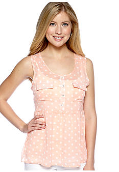 Living Doll Dot Printed Babydoll Top