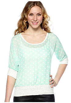 Living Doll Dolman Sleeve Polka Dot Sweatshirt