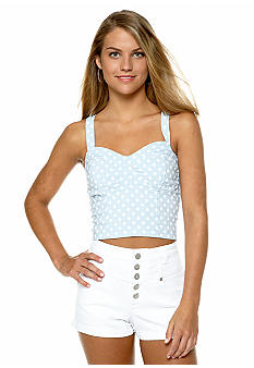 Living Doll Polka Dot Bralet Top