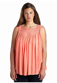 Living Doll Plus Size Boho Lace Tank Top Belk Everyday