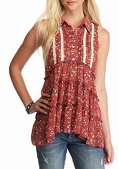 Living Doll Floral Button Tiered Top