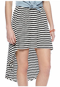 Living Doll Stripe High-Low Skirt