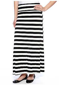 Living Doll Stripe Fold Over Maxi Skirt