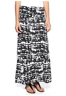 Living Doll Fold Over Tie Dye Print Maxi Skirt